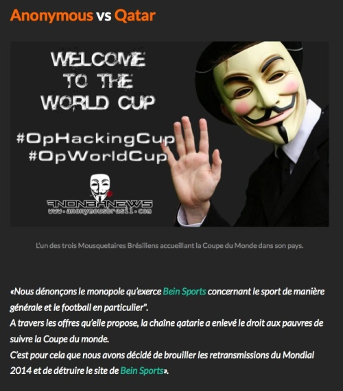 Anonymous vs Qatar